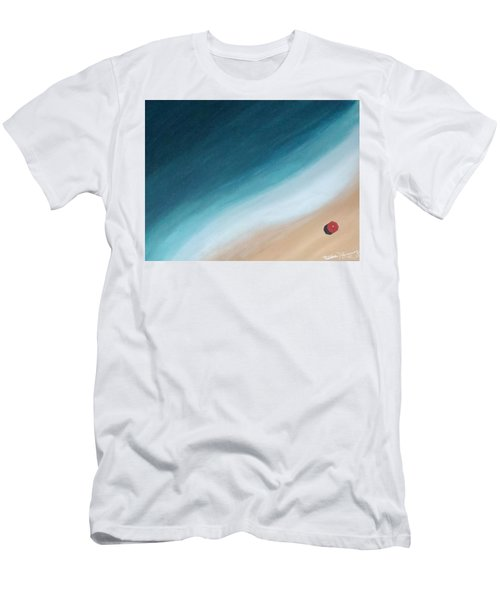 Pacific Ocean And Red Umbrella Men's T-Shirt (Athletic Fit)