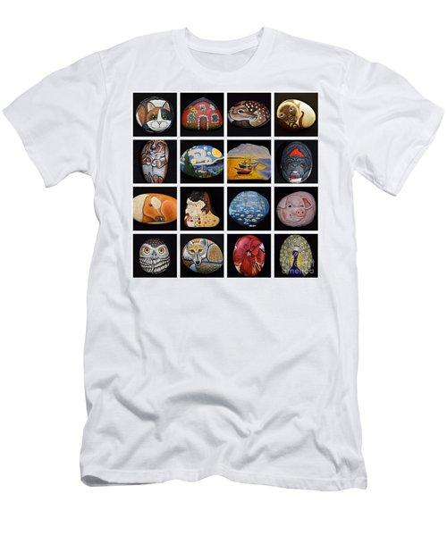 Painted Rock Art Men's T-Shirt (Athletic Fit)