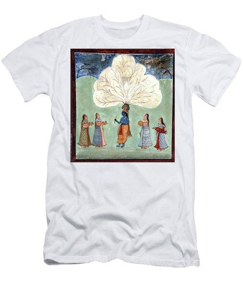 Painting Fresco Of Krishna In The Women's Zenana Men's T-Shirt (Athletic Fit)