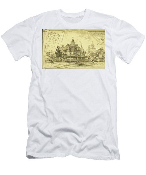 Pair Of Twin Cottages, Hastings Square, Spring Lake, Nj Men's T-Shirt (Athletic Fit)