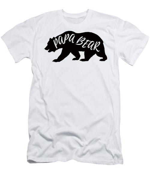 Men's T-Shirt (Athletic Fit) featuring the digital art Papa Bear by David Millenheft