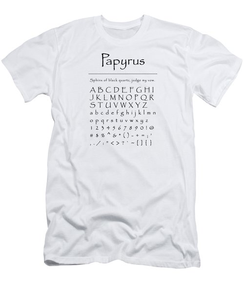 Papyrus - Most Wanted Men's T-Shirt (Athletic Fit)