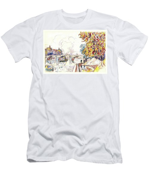 Paris, Pont Royal And The Gare D'orsay - Digital Remastered Edition Men's T-Shirt (Athletic Fit)