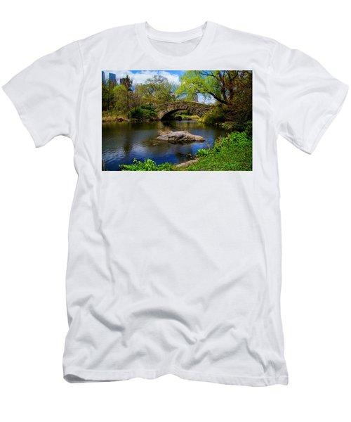 Men's T-Shirt (Athletic Fit) featuring the photograph Park Bridge2 by Stuart Manning