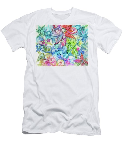 Pastel Flowers - Alcohol Ink Men's T-Shirt (Athletic Fit)