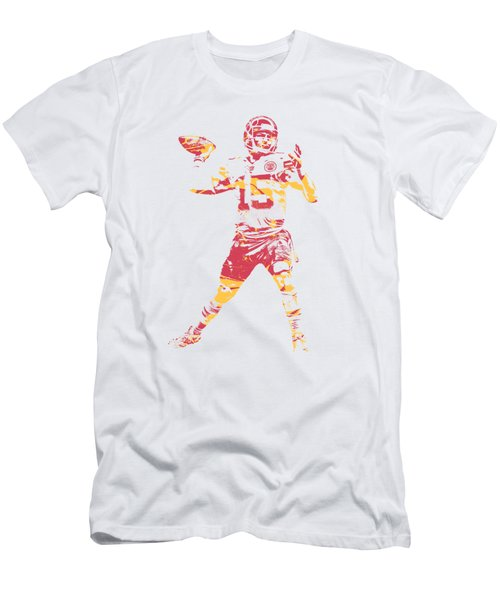 Patrick Mahomes Kansas City Chiefs Apparel T Shirt Pixel Art 1 Men's T-Shirt (Athletic Fit)
