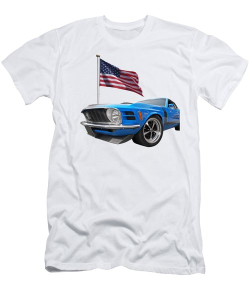 Patriotic Boss Mustang Men's T-Shirt (Athletic Fit)