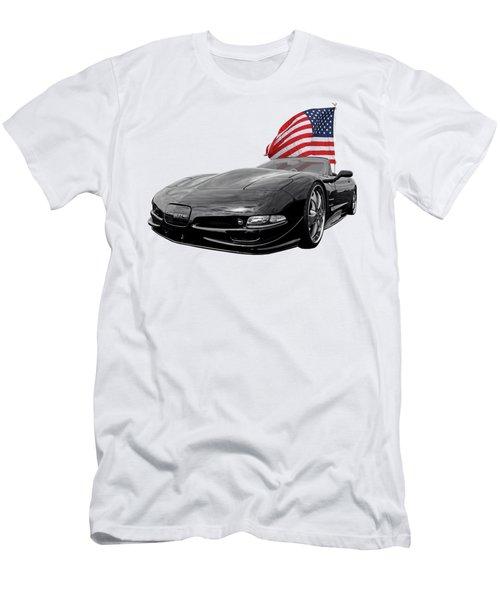Patriotic Corvette C5 Men's T-Shirt (Athletic Fit)