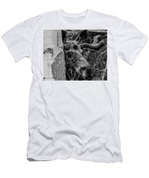 Peek-a-moose Men's T-Shirt (Athletic Fit)