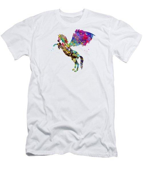 Pegasus-colorful Men's T-Shirt (Athletic Fit)