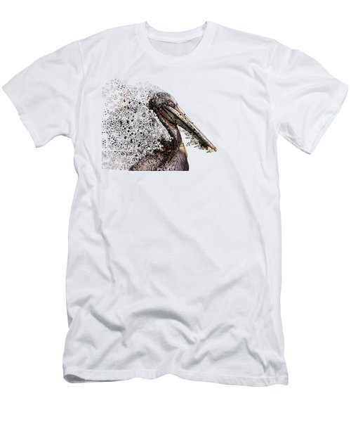 Pelican With Transparent Background Men's T-Shirt (Athletic Fit)