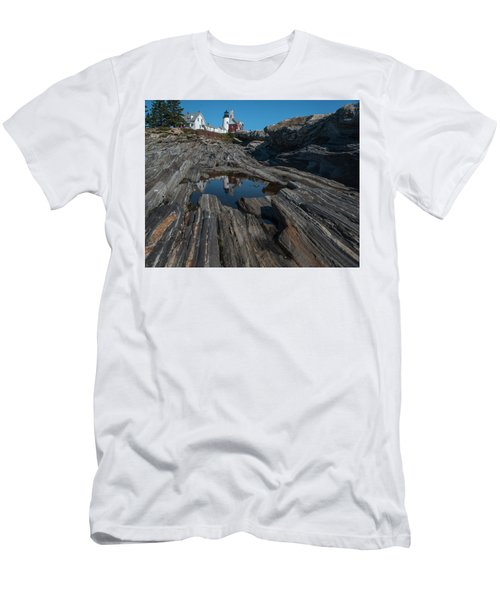 Pemaquid Lighthouse Men's T-Shirt (Athletic Fit)