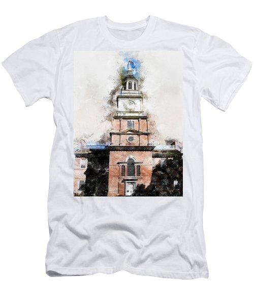 Philadelphia Independence Hall - 01 Men's T-Shirt (Athletic Fit)