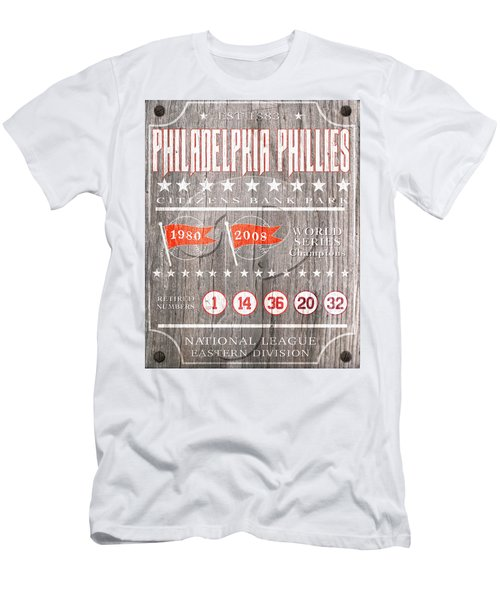 Philadelphia Phillies Rustic Sign Men's T-Shirt (Athletic Fit)