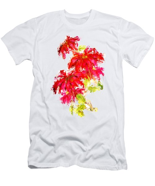 Poinsettia Men's T-Shirt (Athletic Fit)