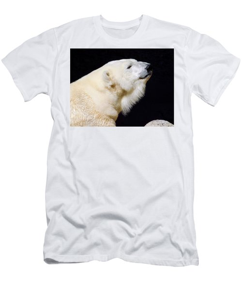 Men's T-Shirt (Athletic Fit) featuring the photograph Polar Bear by Dan Miller