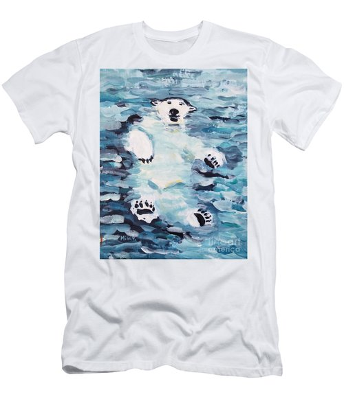 Men's T-Shirt (Athletic Fit) featuring the painting Polar Bear by Maria Langgle