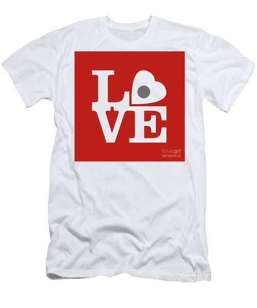 Pop Art Love In Red Men's T-Shirt (Athletic Fit)