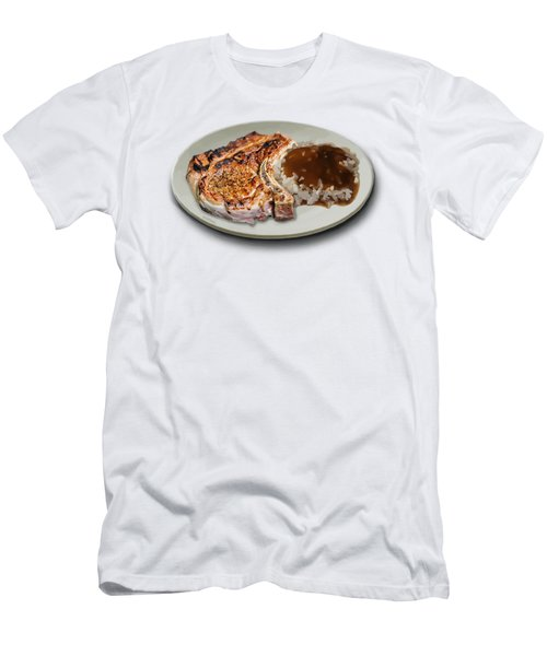 Pork Chop And Rice Men's T-Shirt (Athletic Fit)