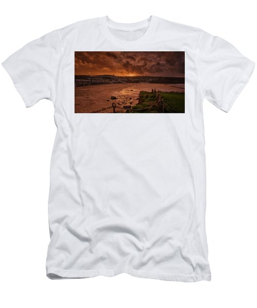 Porthmeor Sunset 2 Men's T-Shirt (Athletic Fit)