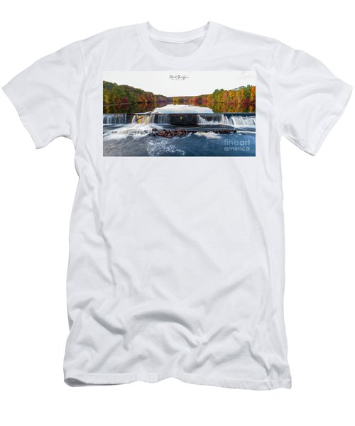 Men's T-Shirt (Athletic Fit) featuring the photograph Power Of The Shetucket by Michael Hughes