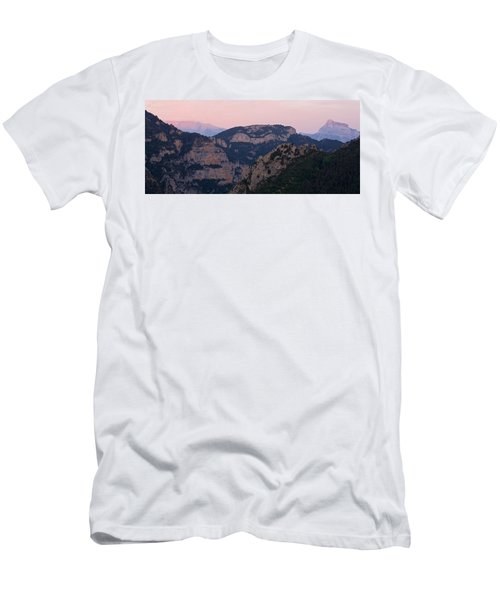 Men's T-Shirt (Athletic Fit) featuring the photograph Pre Pyrenees Sunset by Stephen Taylor