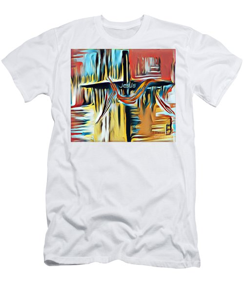 Men's T-Shirt (Athletic Fit) featuring the mixed media Primary Colors by Jessica Eli