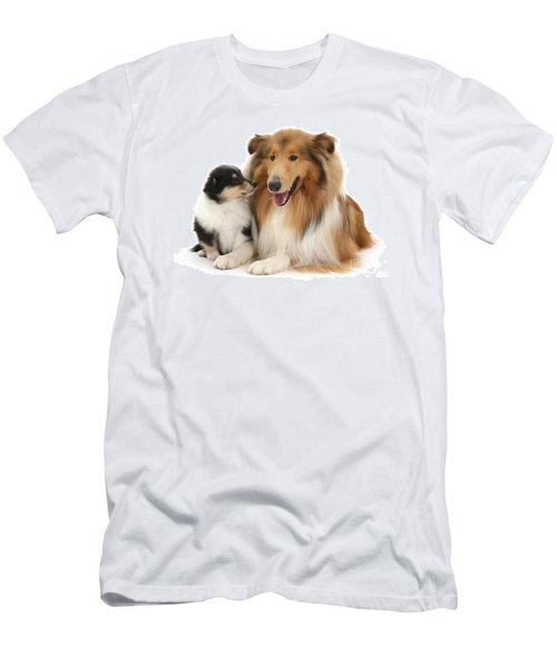 Men's T-Shirt (Athletic Fit) featuring the photograph Proud Mother And Pup by Warren Photographic