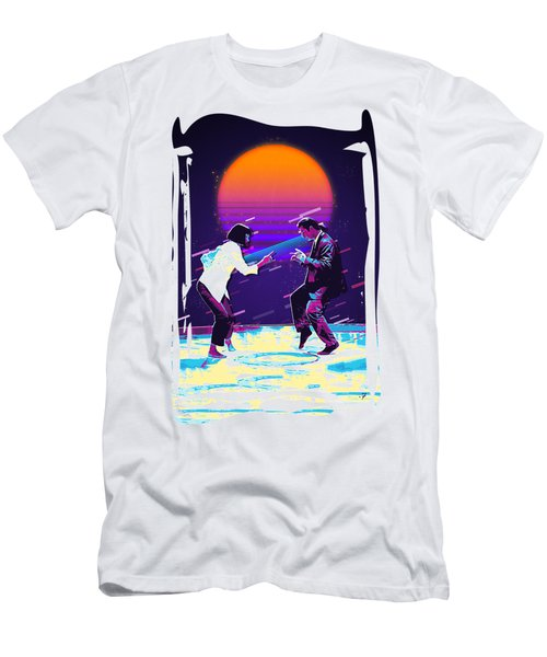 Pulp Fiction Revisited - Urban Neon Vincent Vega And Mia Wallace - The Dance Men's T-Shirt (Athletic Fit)