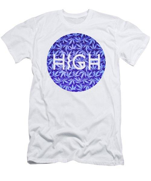 Purple Haze Cannabis Hemp 420 Marijuana  Pattern Men's T-Shirt (Athletic Fit)