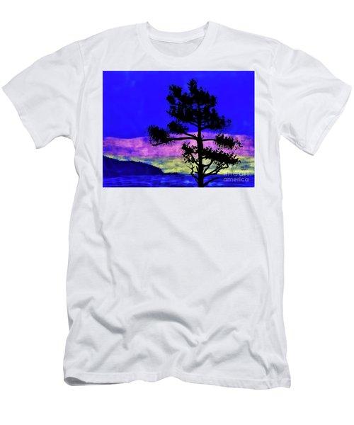 Purple Sunset Bay Men's T-Shirt (Athletic Fit)