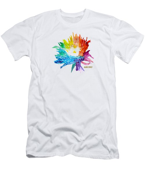 Rainbow Chrysanthemum Men's T-Shirt (Athletic Fit)