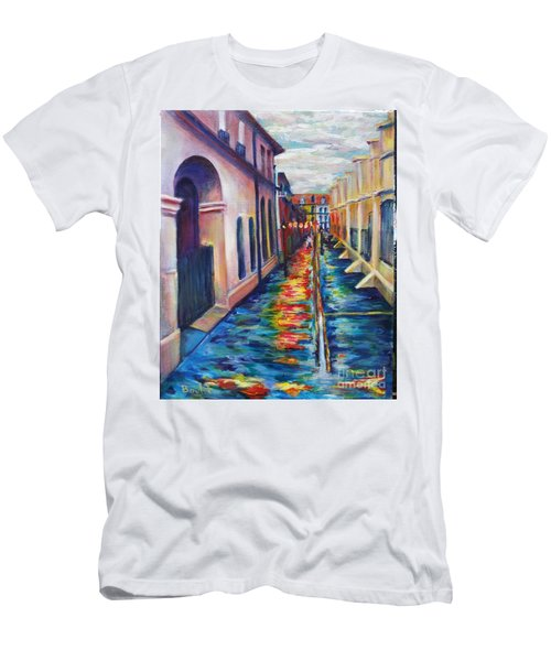 Rainy Pirate Alley Men's T-Shirt (Athletic Fit)