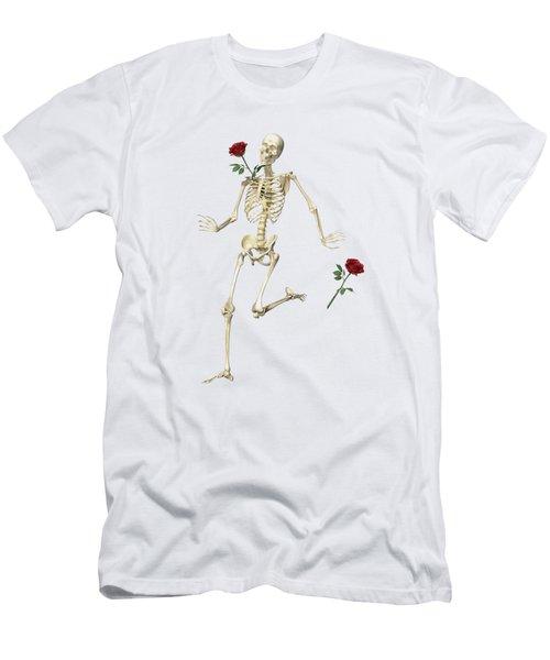 Rambling Rose Running Skeleton Men's T-Shirt (Athletic Fit)