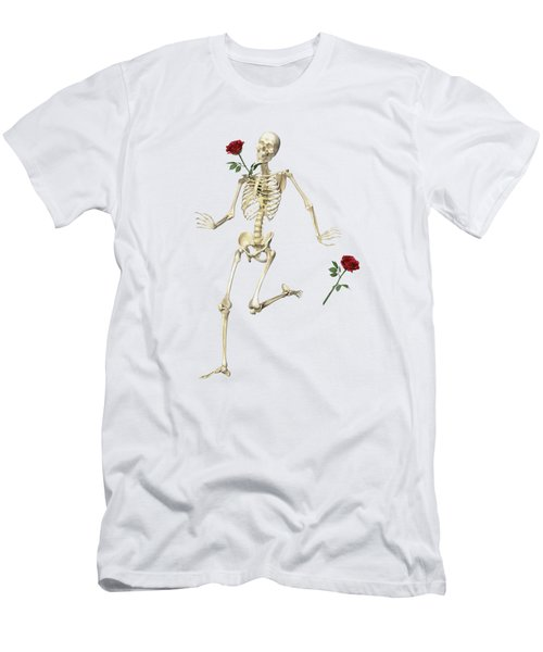 Rambling Rose Running Skeleton Men's T-Shirt (Athletic Fit)