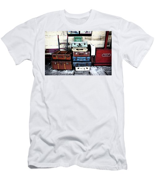 Ramsbottom.  Elr Railway Suitcases On The Platform. Men's T-Shirt (Athletic Fit)