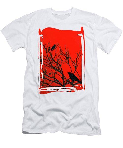 Raven - Black Over Red Men's T-Shirt (Athletic Fit)
