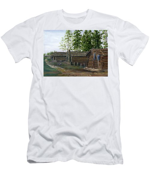 Rebel Huts, Port Hudson, Louisiana 1863 Men's T-Shirt (Athletic Fit)