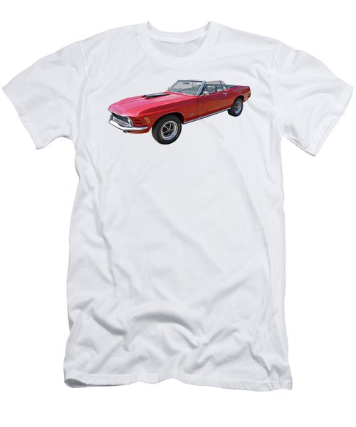 Red 1970 Mach 1 Mustang 351 Cleveland Men's T-Shirt (Athletic Fit)