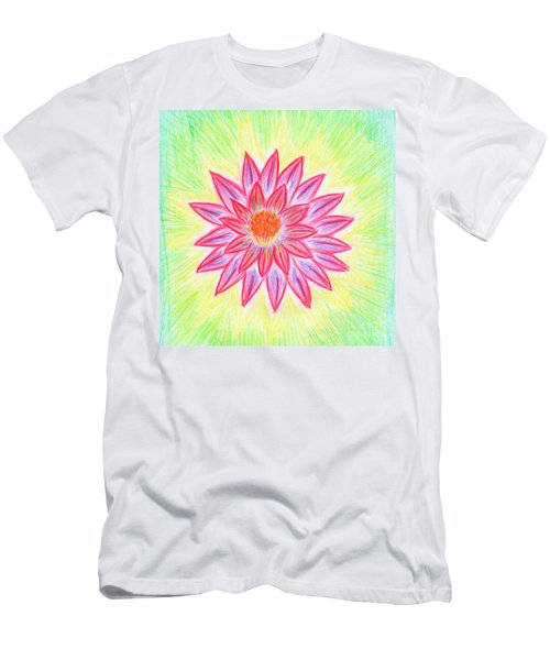 Men's T-Shirt (Athletic Fit) featuring the painting Red Lotus by Irina Dobrotsvet