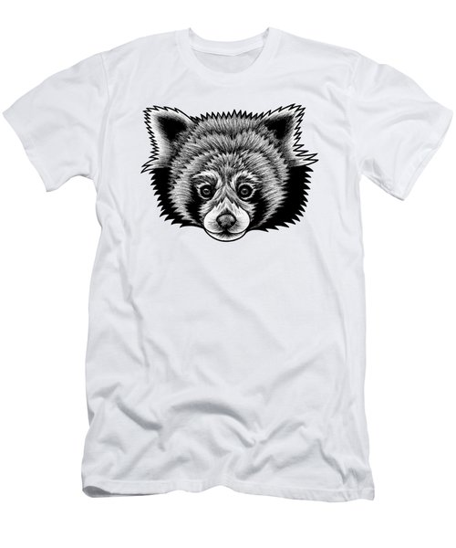 Red Panda - Ink Illustration Men's T-Shirt (Athletic Fit)