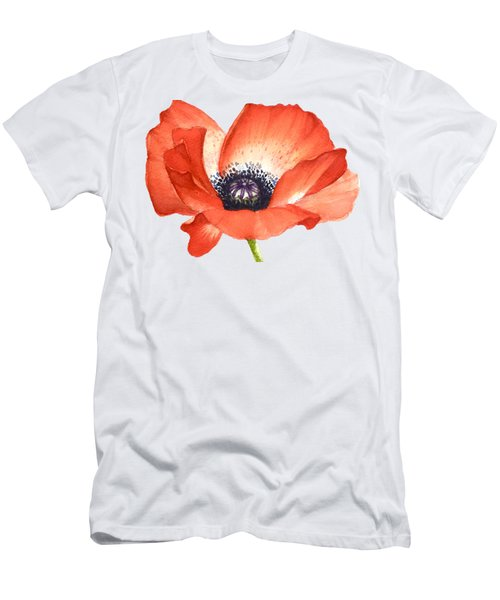 Red Poppy Flower, Image For Prints On Tshirt Men's T-Shirt (Athletic Fit)