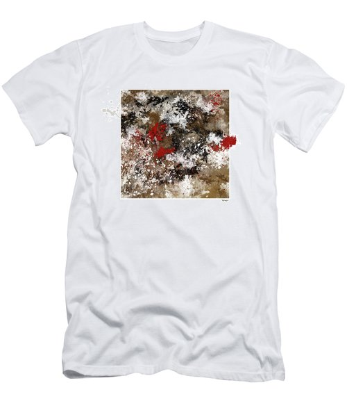 Red Splashes Men's T-Shirt (Athletic Fit)