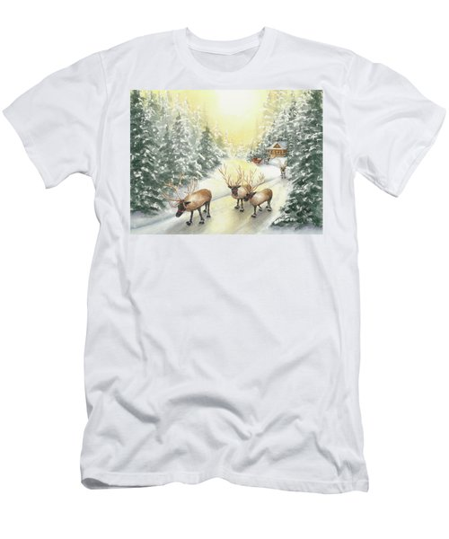 Hoofing It Under The Midnight Sun Men's T-Shirt (Athletic Fit)