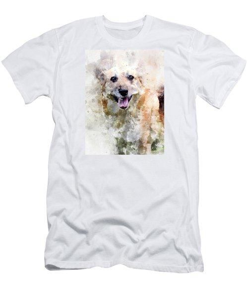 Men's T-Shirt (Athletic Fit) featuring the digital art Remember The Four-legged Smile by Eduardo Jose Accorinti