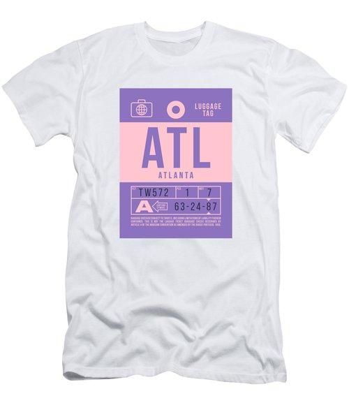 Retro Airline Luggage Tag 2.0 - Atl Atlanta United States Men's T-Shirt (Athletic Fit)