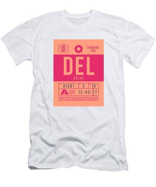 Retro Airline Luggage Tag 2.0 - Del Delhi India Men's T-Shirt (Athletic Fit)