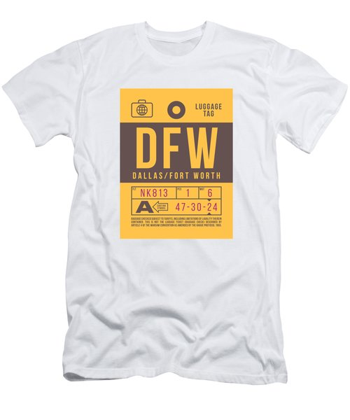 Retro Airline Luggage Tag 2.0 - Dfw Dallas Fort Worth United States Men's T-Shirt (Athletic Fit)