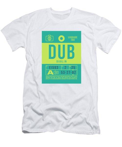 Retro Airline Luggage Tag 2.0 - Dub Dublin Ireland Men's T-Shirt (Athletic Fit)