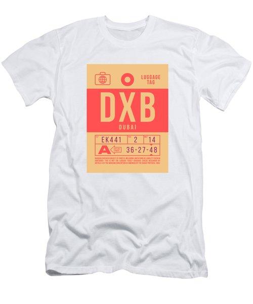 Retro Airline Luggage Tag 2.0 - Dxb Dubai Uae Men's T-Shirt (Athletic Fit)